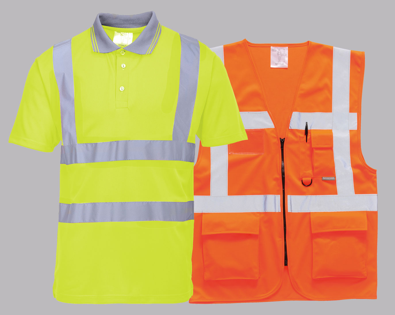 Hi-Vis Vests, Sweats, Polos and Bodywarmers