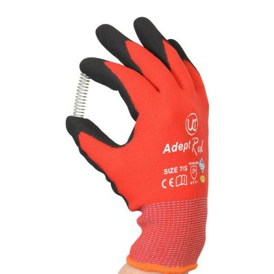 Adept Red Palm Coated Glove