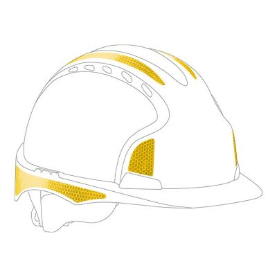 CR2 Yellow Sticker Kit For Evo2/3 Helmets