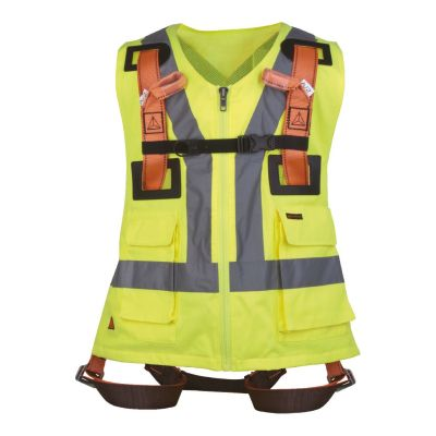 Delta Plus Fall Arrester Harness with Hi-Visibility Vest & 2 Anchorage Points
