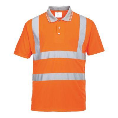 Portwest RT22 Orange Short Sleeved Polo Shirt EN ISO 20471 Class 2