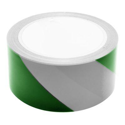 Green & White Hazard Warning Tape