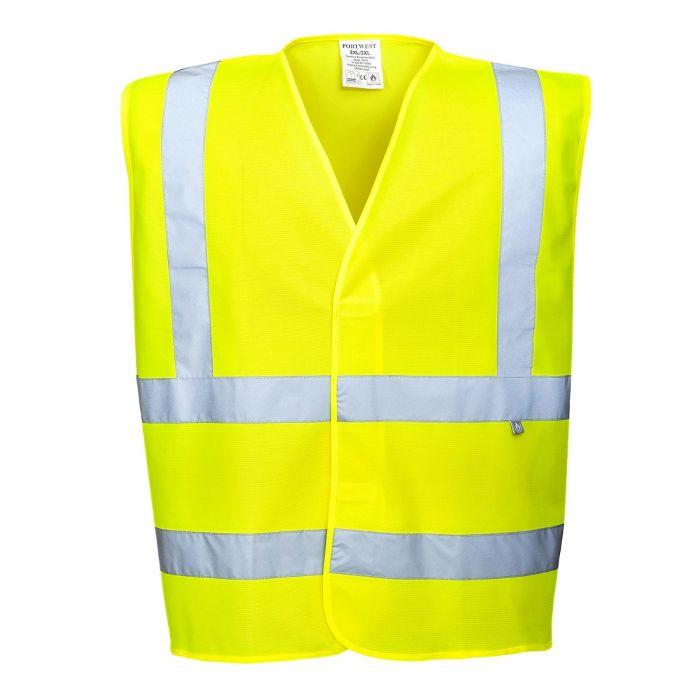 Portwest Hi Visibility Jacket FR Finish Yellow 2XL-3XL