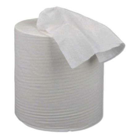 1 Ply White Centrefeed Rolls x 6