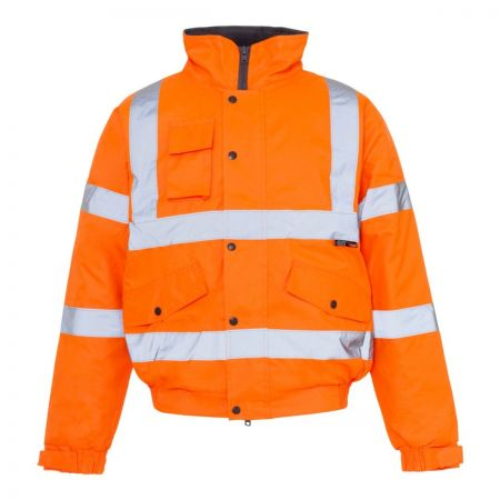 Hi-Viz Bomber Jacket ORANGE