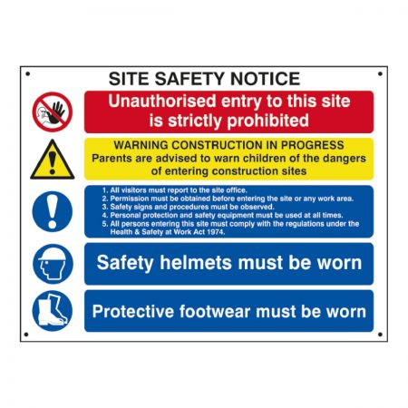 4550 Composite Safety Sign