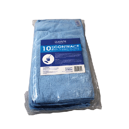 Microfibre Cloths Blue (Pack of 10)