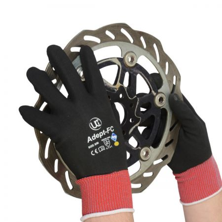 Adept Red Fully Coated Glove