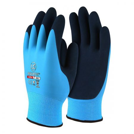 Aquatek Fully Coated Latex Glove With Nylon Liner