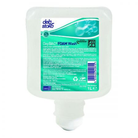 Deb Oxybac FOAM Wash OXY1L - 6x1 Litre Cartridge