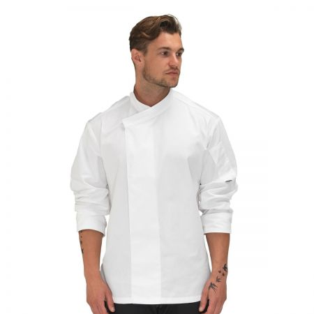 Le Chef Laundry Tough Academy White Long Sleeve Tunic DE50