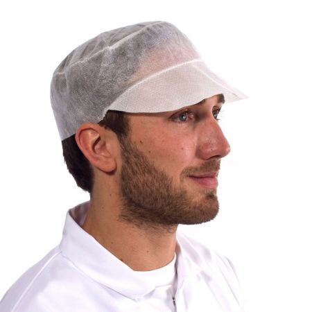 Disposable Peaked Cap x 100 (DISCONTINUED)