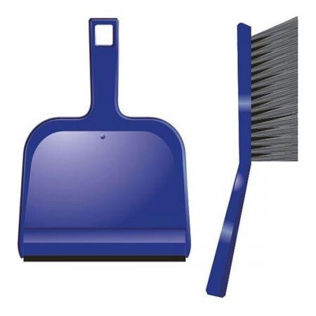Dustpan & brush set soft blue 8599
