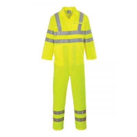 Portwest E042 Hi-Vis Yellow Boilersuit