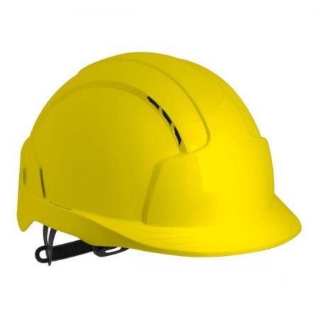 EvoLite Slip Ratchet Vented Hi-Vis Yellow Safety Helmet