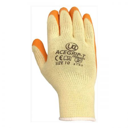 Orange Acegrip Latex Coated Glove