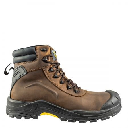 Grafters M452B Brown Waterproof Safety Boot S3 SRC