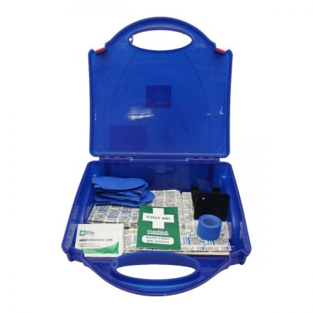 Medikit First Aid Kit with Blue Plasters
