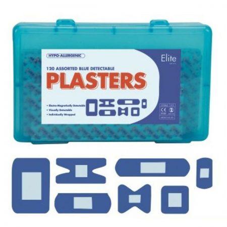 Elite 85500 Assorted Blue Detec Plasters