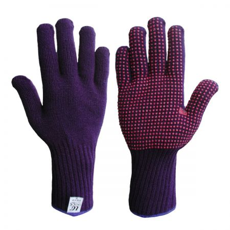 Acrylic Knitted Glove With PVC Dots
