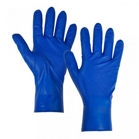 Blue Fish Scale Nitrile Glove
