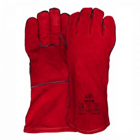 Lined Red Welders Gauntlet WGR