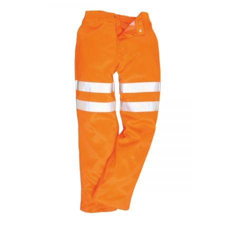 Portwest RT45 Hi-Vis Orange Rail Trousers GO/RT