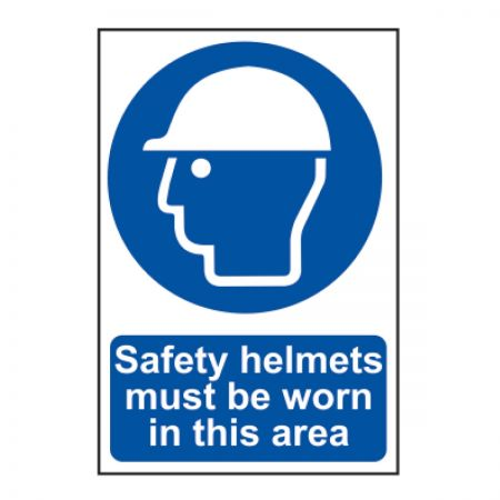 Safety Helmets Must Be Worn (600mm x 400mm)