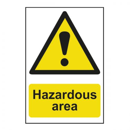 Danger Hazardous Area (600mm x 400mm)
