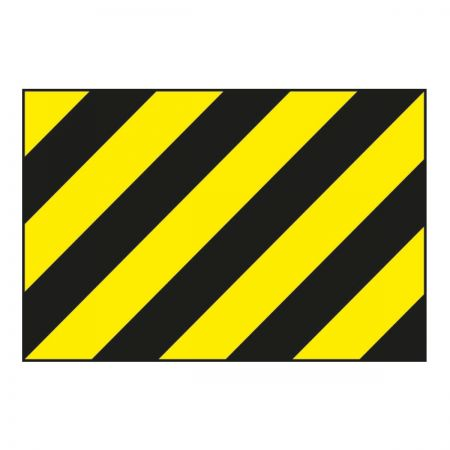 Black/Yellow Warning Panel (600mm x 400mm)