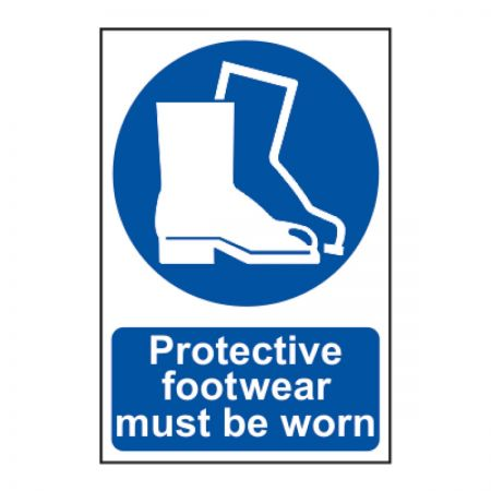 Protective Footwear Must Be Worn 200 x 300mm