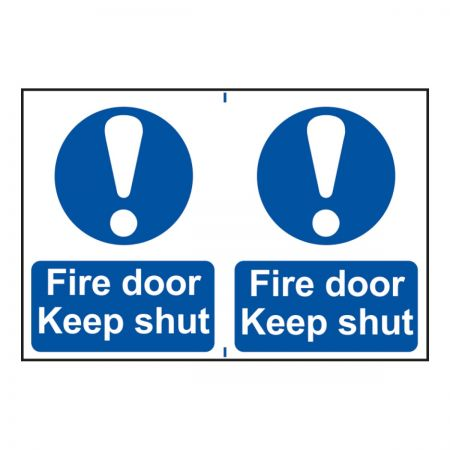 Fire Door Keep Shut 200 x 300mm
