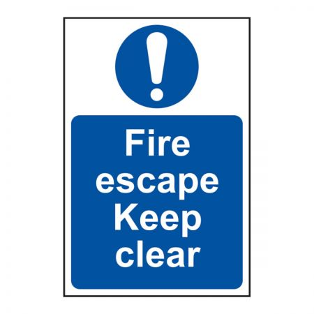 Fire Escape keep Clear 200 x 300mm