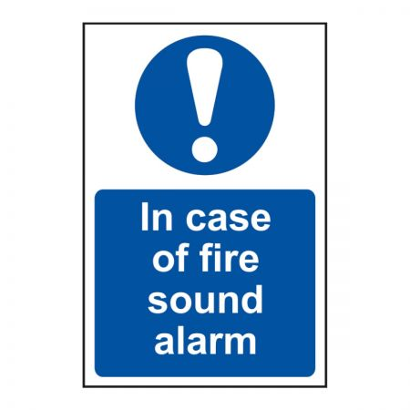 In Case of Fire Sound Alarm 200 x 300mm