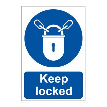 Keep Locked 200 x 300mm