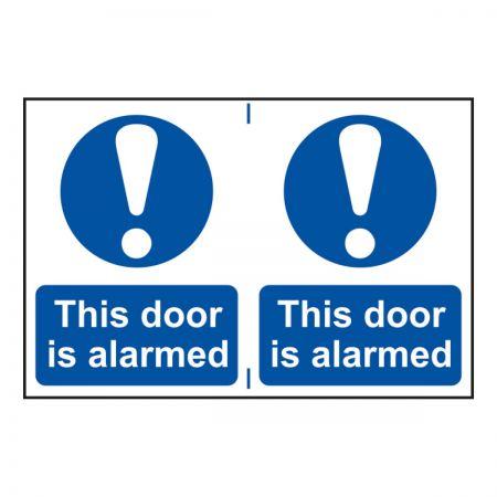 This Door is Alarmed 200 x 300mm