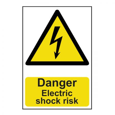 Danger Electrical Shock Risk 200 x 300mm