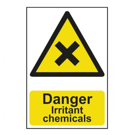 Danger Irritant Chemicals 200 x 300mm
