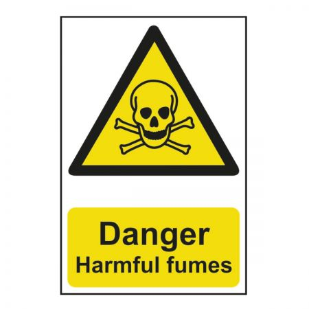 Danger Harmful Fumes 200 x 300mm