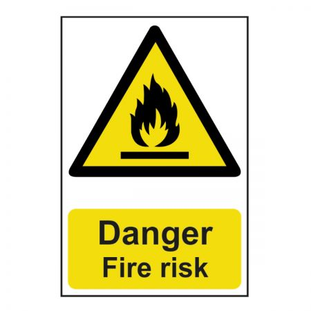 Danger Fire Risk 200 x 300mm