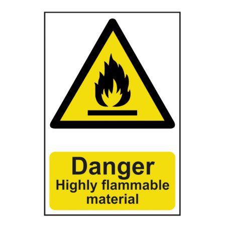 Danger Highly Flammable 200 x 300mm