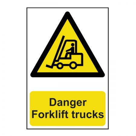 Danger Forklift Trucks 200 x 300mm