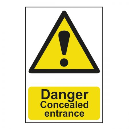 Danger Concealed Entrance 200 x 300mm