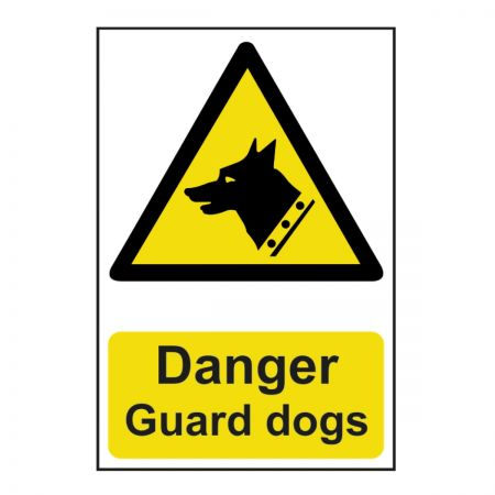 Danger Guard Dogs 200 x 300mm