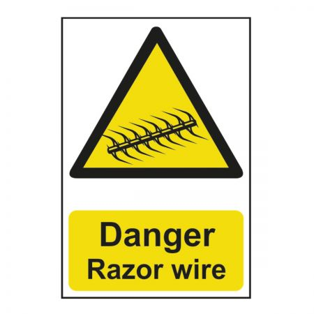 Danger Razor Wire 200 x 300mm