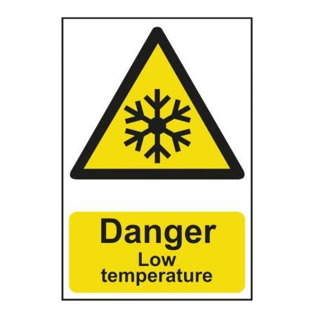 Danger Low Temperature 200 x 300mm