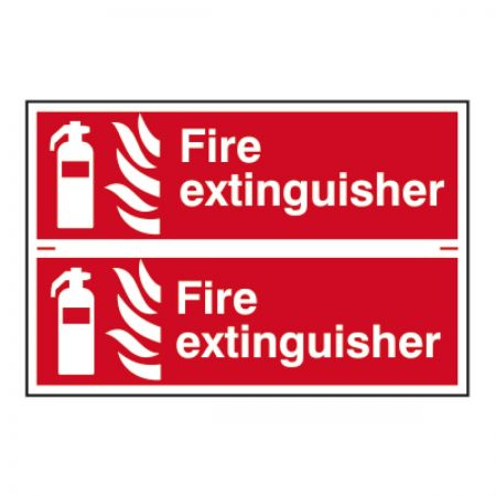 Fire Extinguisher x 2 - 200 x 300mm