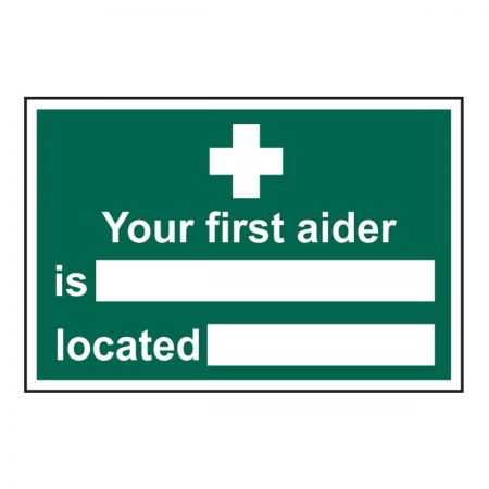 Your First Aider Is 200 x 300mm