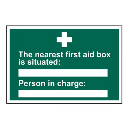 The Nearest First Aid Box Is 200 x 300mm