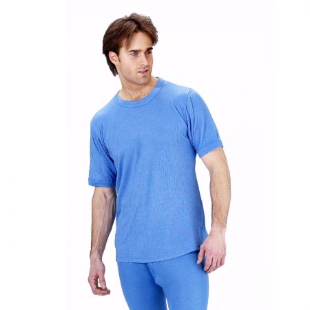 Thermal Vest Short Sleeve Light Blue